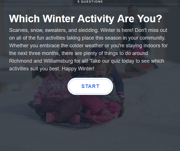 Take our Newest Quiz and Discover Your Favorite Winter Activities in Williamsburg and Richmond