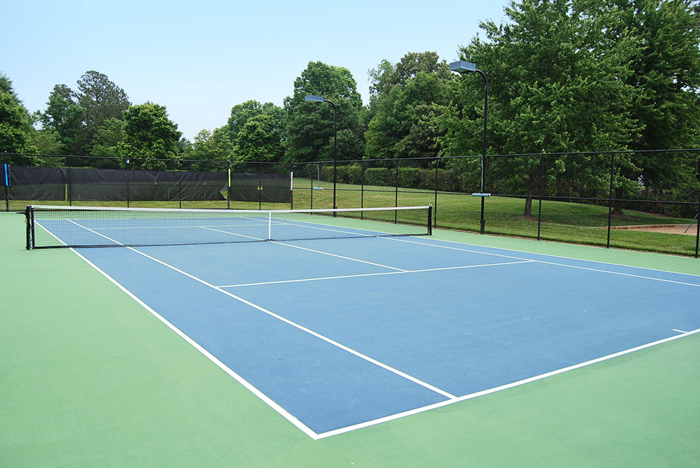 A tennis court in the community of Wyndham - Henrico County, VA